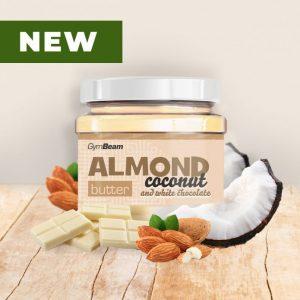 mandlove maslo s kokosom a bielou cokoladou